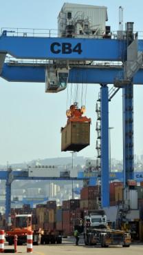 נמל חיפה, 2.9.13 (צילום: שי לוי)
