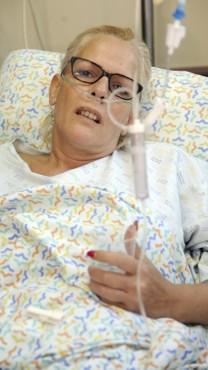 מוניק עופר, שבעלה נרצח בידי פלסטינים בבקעת הירדן (צילום: גיל אליהו)