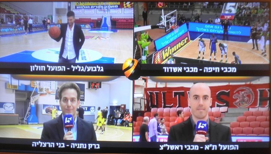 """""""ערב הכדורסל של ישראל"""" בערוץ הספורט"""