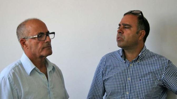 """מנכ""""ל ynet אבי בן-טל (מימין) והמשנה למנכ""""ל """"ידיעות אחרונות"""" יעקב כפיר, 29.9.13 (צילום: """"העין השביעית"""")"""