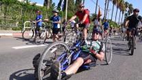 שר הביטחון משה יעלון במרוץ אופניים, 2.11.13 (צילום: רון שלף)