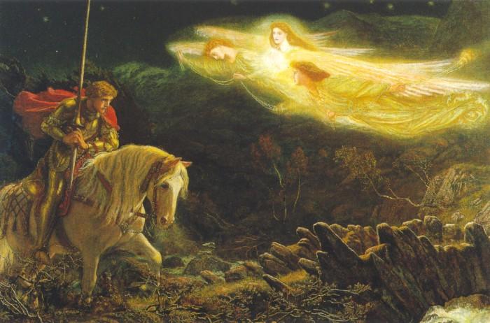 """ארתור יוז, """"סיר גלאהד והחיפוש אחרי הגביע הקדוש"""". 1870, הגלריה לאמנות ווקר, ליברפול"""