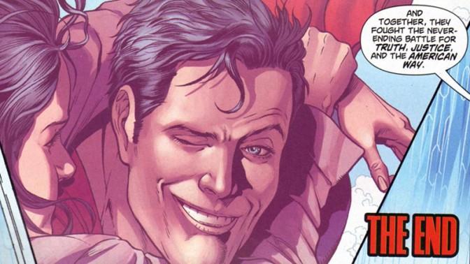 """אחת מסצנות הסיום בסדרה """"Superman: Grounded"""", 2010-2011"""