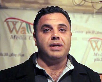 """מועמר עורבי, מנכ""""ל wattan TV (צילום מסך: פלסטיין מוניטור)"""
