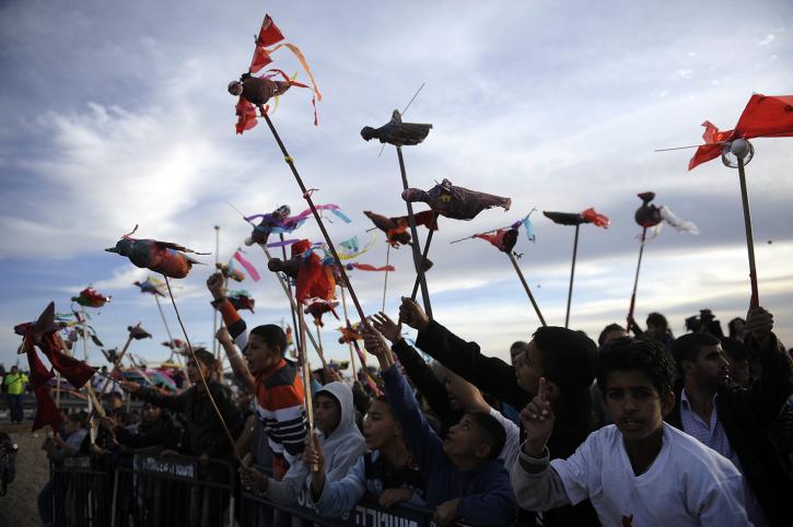 הפגנה נגד תוכנית פראוור, חורה, 30.11.13 (צילום: דוד ביומוביץ')