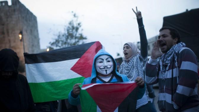 הפגנה ערבית במזרח ירושלים, 30.11.13 (צילום: יונתן זינדל)