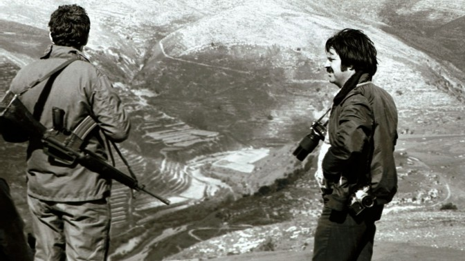משה מילנר ונוף לבנוני (צילום: ישראל סימיונסקי, ישראל סאן)