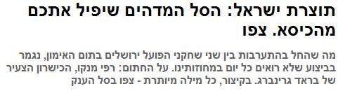 הסל שלא הפיל מהכיסא. ynet
