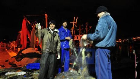 דייגים בקישון (צילום: שי לוי)