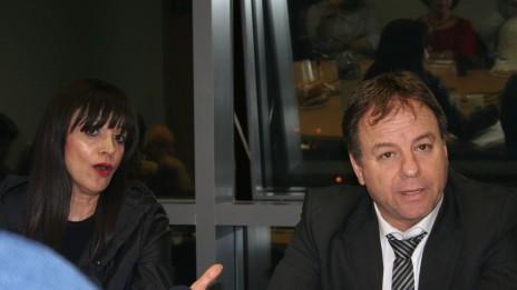 """יואב הורוביץ וגאולה אבידן, 14.1.14 (צילום: """"העין השביעית"""")"""