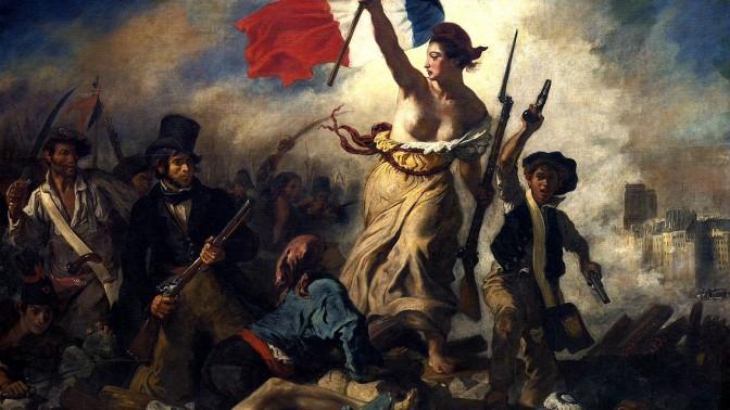 """אז'ן דלקרואה, """"החירות מובילה את העם"""", שמן על בד, 1830"""