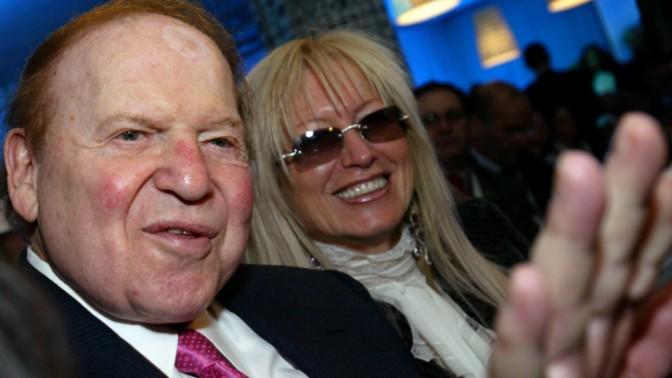 """איל הקזינו המיליארדר שלדון אדלסון ואשתו ד""""ר מרים אדלסון בועידת הנשיא, ירושלים, 13.5.13 (צילום: אוליבייה פיטוסי)"""