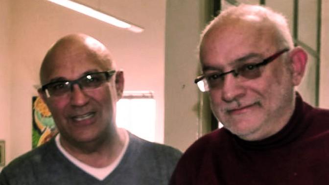 """מנכ""""ל רשות השידור-יוני בן מנחם (מימין) וסמנכ""""ל טכנולוגיות של רשות השידור רפי יהושע (צילום: דוברות רשות השידור)"""