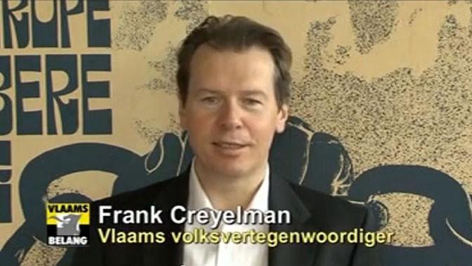 """פרנק קריילמן, חבר מפלגת הימין הקיצוני """"האינטרס הפלמי"""" (צילום מסך)"""