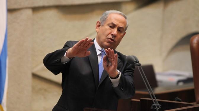 ראש הממשלה בנימין נתניהו נואם בכנסת, 19.3.14 (צילום: פלאש 90)
