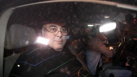 """דובר צה""""ל לשעבר אבי בניהו יוצא מחקירה משטרתית, 20.3.14 (צילום: גדעון מרקוביץ')"""