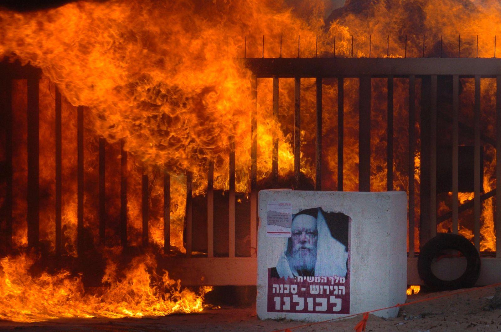 בשולי פינוי הישראלים מגוש קטיף, 21.8.05 (צילום: נתי שוחט)