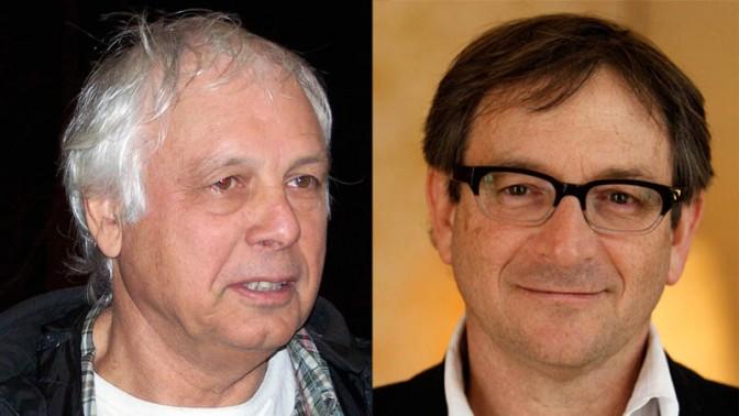 """רון פונדק (מימין) וראובן פדהצור (צילומים: פלאש 90 ו""""העין השביעית"""")"""