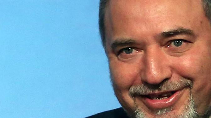 """שר החוץ אביגדור ליברמן בכנס ה""""ג'רוזלם פוסט"""" בניו-יורק, 6.4.14 (צילום: מארק ישראל סלם)"""
