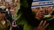 """הנשיא שמעון פרס, טקס יום הזיכרון, 5.5.14 (צילום: קובי גדעון, לע""""מ)"""