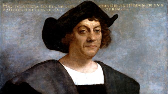 סבסטיאנו דל-פיומבו, פורטרט משוער של כריסטופר קולומבוס. שמן על בד, 1519 (נחלת הכלל)