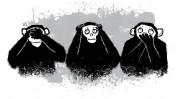 (איור שלושת הקופים: שאטרסטוק)