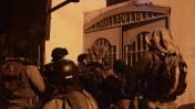 """חיילי צה""""ל מפטרלים במחנה בלטה ליד שכם, 18.6.14 (צילום: דובר צה""""ל)"""