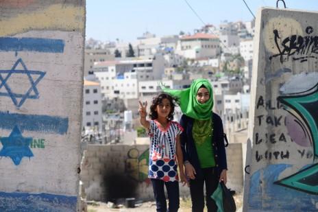 ילדות בחברון, 24.6.14 (צילום: מנדי הכטמן)