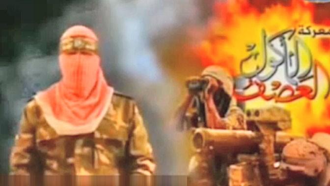 """תעמולה של חמאס במהלך מבצע """"צוק איתן"""" (צילום מסך)"""
