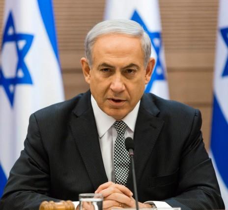 ראש ממשלת ישראל בנימין נתניהו בפתח ישיבת ממשלה שבה שיבח את העורף על התנהלותו בשעת מלחמה. 24.7.14 (צילום: פלאש 90)