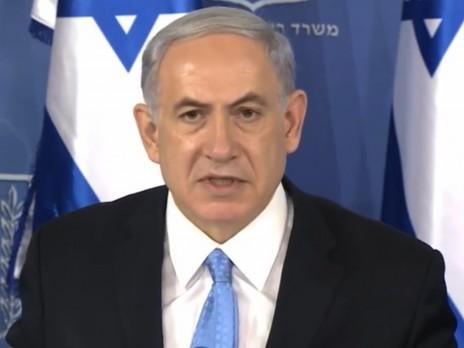 """ראש ממשלת ישראל בנימין נתניהו במסיבת העיתונאים שבה סיכם את מבצע """"צוק איתן"""". 2.8.14 (צילום מסך)"""