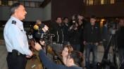 """מפכ""""ל המשטרה יוחנן דנינו במסיבת עיתונאים מחוץ למטה המשטרה בתל-אביב, 16.1.14 (צילום: גדעון מרקוביץ')"""