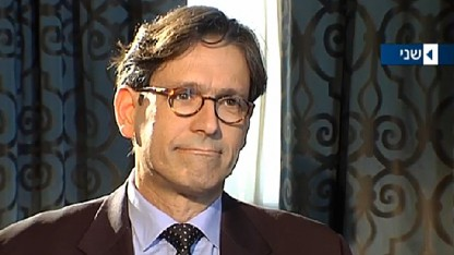 ערד ניר מראיין את רון לאודר, ערוץ 2, 18.10.14 (צילום מסך)