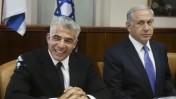 ראש הממשלה בנימין נתניהו ושר האוצר יאיר לפיד בישיבת ממשלה, 7.10.14 (צילום: מרק ישראל סלם)