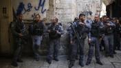 """שוטרי מג""""ב בירושלים העתיקה, סמוך לאחת הכניסות למתחם הר הבית. 13.10.14 (צילום: הדס פרוש)"""