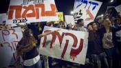 הפגנה בירושלים לאחר רצח התינוקת חיה זיסל ברון, 23.10.14 (צילום: מרים אלסטר)