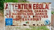 קונגו: שלט אזהרה בכניסה לאיזור נגוע באבולה, 27.9.2013 (צילום: Sergey Uryadnikov / Shutterstock.com)