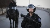 """שוטרת מג""""ב, אתמול בעיסאוויה (צילום: הדס פרוש)"""