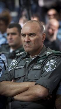"""מפקד מג""""ב ניצב עמוס יעקב, 13.11.14 (צילום: מרים אלסטר)"""