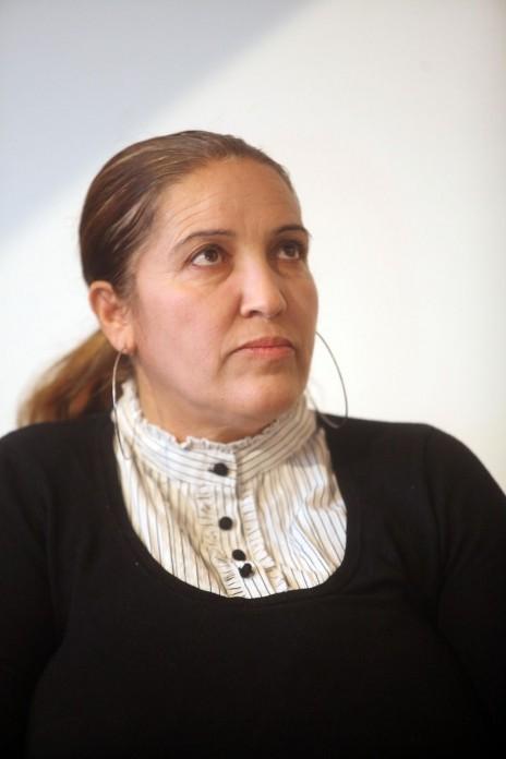 """סמירה חאג' יחיא, ערב עיון """"ערבים בתקשורת: בין מעגלי זהות"""", 26.11.14 (צילום: גדעון מרקוביץ')"""