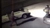 חיר חמדאן, רגע לפני שנורה בידי שוטרים (צילום מסך)