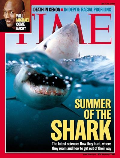 """""""קיץ הכרישים"""" במגזין """"טיים"""", 2011"""