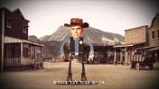 דני דנון בדמות שריף מצויר בסרטון ההסתה האחרון שפירסם נגד עמיתתו לכנסת חנין זועבי (צילום מסך)