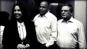 """צמרת בנק הפועלים, פברואר 2008. משמאל: בעלת השליטה שרי אריסון, היו""""ר דני דנקנר והמנכ""""ל צבי זיו (צילום מקורי: רוני שיצר, פלאש 90)"""