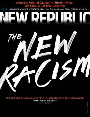"""""""הגזענות החדשה"""", שער גליון אוגוסט 2014 של """"ניו-ריפבליק"""""""