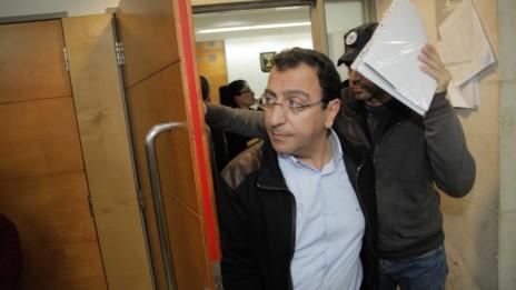 הלוביסט ישראל יהושע בעת הארכת מעצרו, 24.12.14 (צילום: פלאש 90)