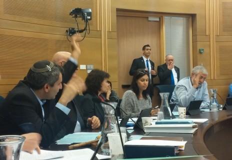 חברי ועדת הכלכלה מצביעים על הצעת החוק להארכת זכיונו של ערוץ 10, 5.1.14 (צילום: דוברות הכנסת)