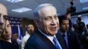 בנימין נתניהו, ראש ממשלת ישראל, לאחר היוודע תוצאות הפריימריז בליכוד, 1.1.15 (צילום: אמיר לוי)