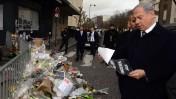 """ראש ממשלת ישראל, בנימין נתניהו, באתר הנצחה מאולתר להרוגי הפיגוע במרכול בפריז (צילום: חיים צח, לע""""מ)"""