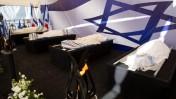 גופות ההרוגים בפיגוע במרכול הכשר בפריז, הר המנוחות, ירושלים, 13.1.15(צילום: עמית שאבי)